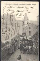 VILLENEUVE D'ALLIER 43 - Eglise Et Habitants - Dentellière - Edition Chouvet - France