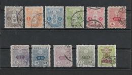 Japan, 1913, 11 Stamps,  Between 1 /2 Sen & 1 Yen, Good Used - Japan