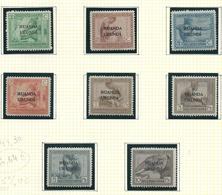 53 - 54 - 56 - 57 - 58 - 59 - 60 - 61  Vloors X  Avec Charnière / Met Plakker O.C. 44,30€ - Ruanda-Urundi