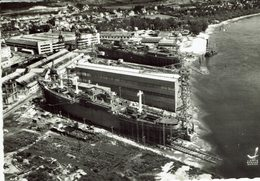 76-LE TRAIT-VUE AERIENNE-CONSTRUCTION NAVALE-BATEAU-CHANTIER DE LA SEINE MARITIME - Le Treport