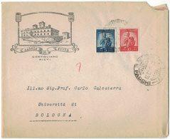ZN63   Busta Pubblicitaria CASTELLO Di TERRIA CONTIGLIANO RIETI Con Lettera Autografa Duca Rodolfo Varano - 6. 1946-.. Repubblica