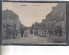 Carte Postale 59. Warhem  Un Coin De La Place  Très Beau Plan - Autres Communes