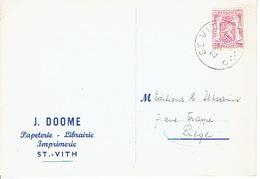 CP Publicitaire SAINT-VITH 1947 - J. DOOME -  Imprimerie - Librairie - Papeterie - Sankt Vith