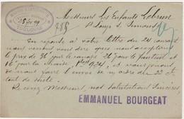 Carte Commerciale 1899 / Entier / Emmanuel BOURGEAT / Maison Personne / Meubles / 31 Toulouse - Maps