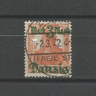 Danzig Auf Germania Nr. 29 II Gestempelt, Geprüft BPP - Danzig