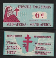 S.Africa, 1958, Xmas Stamps / Kerseels, 6d Booklet Complete With 6x 1d  Labels - South Africa (...-1961)