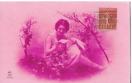 Carte Ancienne Monochrome PC PARIS N° 3229 / Jeune Femme Lisant Lettre / Colombe / Felurs - Femmes