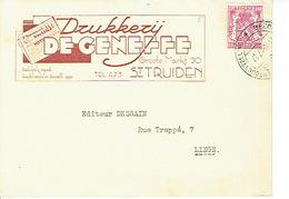 PK Publicitaire SINT-TRUIDEN 1947 - Drukkerij DE GENEFFE - Sint-Truiden