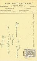 PK Publicitaire SINT-TRUIDEN 1947 - A-M. DUCHATEAU - Boekhandel - Sint-Truiden