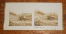 Photo Ancienne Stéréoscopique. Sopvitch Abattu En Feu. Guerre 1914 1918. - Aviation