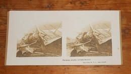 Photo Ancienne Stéréoscopique. Farman Abattu Devant Reims. Guerre 1914 1918. - Aviation