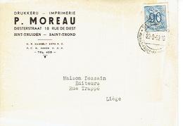 PK Publicitaire SINT-TRUIDEN 1952 - P. MOREAU - Drukkerij - Sint-Truiden