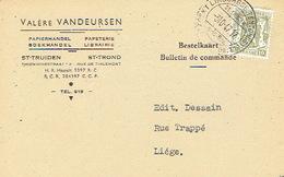 PK Publicitaire SINT-TRUIDEN 1952 - Valère VANDEUSEN - Boek- En Papierhandel - Sint-Truiden