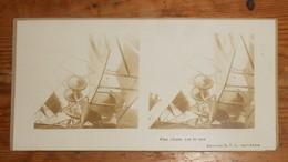 Photo Ancienne Stéréoscopique. Une Chute Sur Le Nez. Guerre 1914 1918. - Aviation