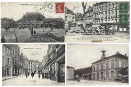 FRANCE - Joli Lot De 26 CPA - Toutes Animées - Années 1900 - 1920 - Cartes Postales