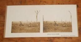 Photo Ancienne Stéréoscopique. Avion Boche Abattu. Guerre 1914 1918. - Aviation