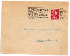 RHIN / Bas - Dépt N° 67 = HAGUENAU 1956 =  FLAMME Sur DEVANT  = SECAP Illustrée D'une CHAPELLE ' QUINZAINE FORET BOIS  ' - Marcophilie (Lettres)