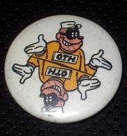 TH Rapetous Badge Button - Groupe De Punk Français De Montpellier Année 80 Vintage  - Badge épingle Diam 25 Mm - Objets Dérivés