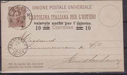 Italia Cartolina Del 1920 Da C. 10 Su C. 15 Per Amsterdam - 1900-44 Vittorio Emanuele III