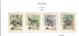 Polonia PO 1954 Animali Scott.660/663 Imperf.See Scan On Scott.Page; - 1944-.... República