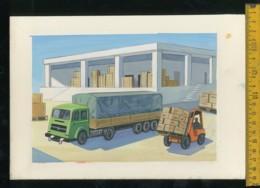Augurale Originale Dipinto A Mano Bozzetto Per Cartoline - Autres