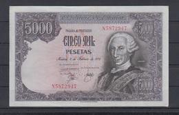 EDIFIL 475a.  5000 PTAS 6 DE FEBRERO DE 1976 SERIE N.  CONSERVACIÓN EBC. - [ 4] 1975-… : Juan Carlos I
