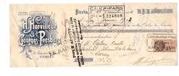 1926 Facture Horvilleur & Georges Presberg 32 Rue Des Archives Paris 4eme Mandat 300 Francs Timbre Fiscal France - France