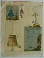 Gravure Scaphandrier, Cloche De Plongée - Vieux Papiers