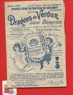 VERDUN MEUSE DRAGEES BRAQUIER CATALOGUE Illustré Loubet 1900 Obus Pieds Cochon St Menehould Melon Sucre Château Coulmier - France