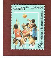 CUBA -  SG 3010   -  1984 PRE-OLYMPICS: BASKETBALL            - USED - Cuba