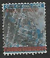 S.Africa, CoGH, 1879, THREE PENCE  / 4d Blue, Used - South Africa (...-1961)