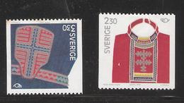 Sweden 1989 Norden: Parts Of Lapland Costumes, Chest Cloth, Belt Bag Mi  1537-1538  MNH(**) - Suède