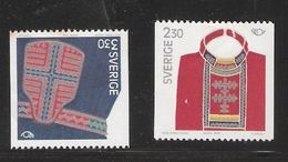 Sweden 1989 Norden: Parts Of Lapland Costumes, Chest Cloth, Belt Bag Mi  1537-1538  MNH(**) - Unused Stamps