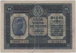 10  Lire - Kingdom - Italy - Year 1918 - Buoni Di Cassa