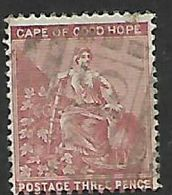 S.Africa, CoGH, 1881, 3d,deep Claret, CC, Used, - South Africa (...-1961)