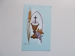 Devotieprent : Plechtige Kommunie & Vormsel Martine PERSOONE Te Steenbrugge 21 Mei 1961 - Communion