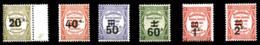 N°49/54, Les 6 Valeurs TB  Qualité: **  Cote: 233 Euros - Taxes