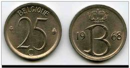 Belgique Pièces De Monnaie 25 Centimes NLD 1968 - 02. 25 Centimes