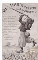 AVE  MARIA D'UN   POILU  A SA  BAIONNETTE ,,,,,,VOYAGE 1916,,,, - Patriottiche