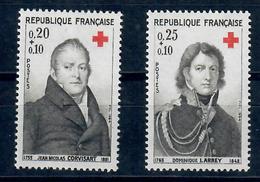 FRANCIA - 1964 - PRO CROCE ROSSA. MEDICI. SERIE COMPLETA. - MNH** - France