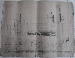 Locomotive à Vapeur,19e, La Rapide, 11 Planches, - Machines
