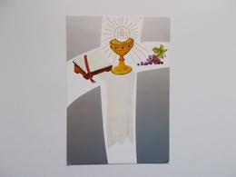 Devotieprent : Martine & Johan AMPE  Plechtige Communie Op Pinksteren 1962 Te Hooglede - Communion