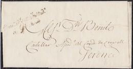 "GRANDE ARMÉE.1813. GERONA CORREO INTERIOR. MARCA ""Conser D'Etat Indent/à Gironne"" NEGRO. AL DORSO ESCUDO ÁGUILA IMPERIAL - Marcofilia (sobres)"