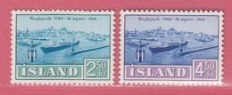 1961 ** Islande  (sans Charn., MNH, Postfrish)  Yv  309/10Mi  352/3FA  386/7 - Neufs