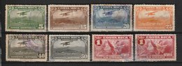 MiNr. 165, 167 - 171, 174 Costa Rica /  1934, 14. März. Flugpostmarken. - Costa Rica