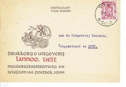 PK Publicitaire TIELT 1947 -  LANNOO - Drukkerij & Uitgeverij - Tielt