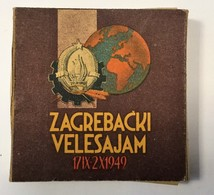 FULL TOBACCO  BOX     ZAGREBACKI VELESAJAM  1949.   20 CIGARETTES - Schnupftabakdosen (leer)