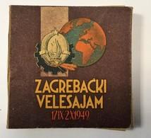 FULL TOBACCO  BOX     ZAGREBACKI VELESAJAM  1949.   20 CIGARETTES - Boites à Tabac Vides