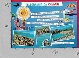 CARTOLINA VG ITALIA - Telegramma Da CHIAVARI (GE) - Vedutine Multivue - 10 X 15 - ANN. 1990 COPPA MONDO CALCIO - SVEZIA - Saluti Da.../ Gruss Aus...
