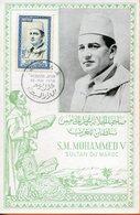 "Maroc; FDC 1956;TP N° 362 ;carte Maximum "" Mohammed V "" Morocco;Marruecos - Marokko (1956-...)"